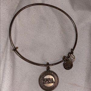 ALEX AND ANI silver sorority ZTA bracelet